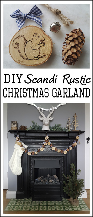 Guest Post From The House That Will Scandi Rustic Christmas Garland